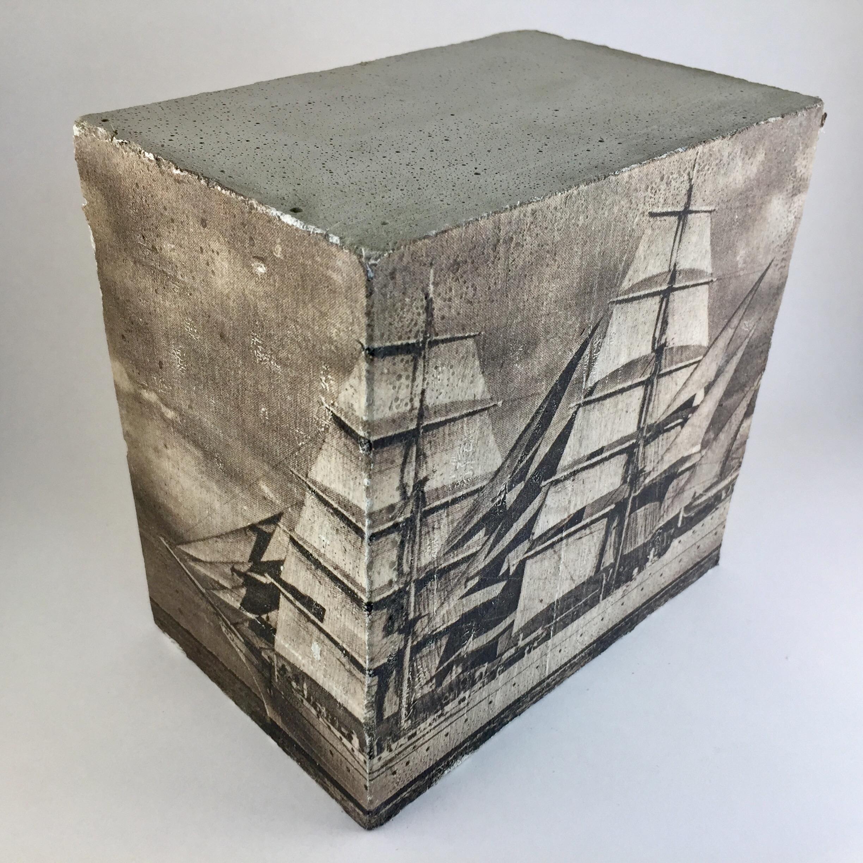 fotobeton wandw rfel 15x15x9 segelschiff beton en. Black Bedroom Furniture Sets. Home Design Ideas